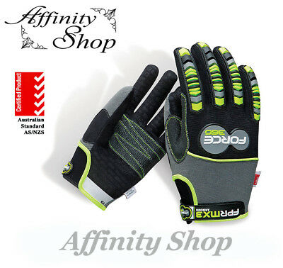 8 x Armour Impact Protection Work Gloves Force360 FPRMX3 Mechanics Glove MX3 IP