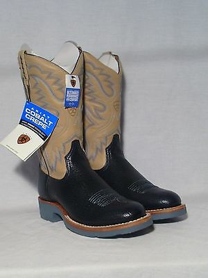 New Ariat Cobalt Crepe Western Crepe Soled Boots Womens SIze 6B