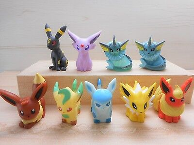Pokemon Finger Puppet Figure Espeon Eevee Umbreon Glaceon Set Clear Lot Bandai
