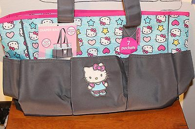 HELLO KITTY Diaper Bag NWT 7 Pockets and Changing Pad