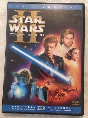 STAR WARS ATTACK OF THE CLONES 2 Disc R1 DVD Free Post FULL SCREEN
