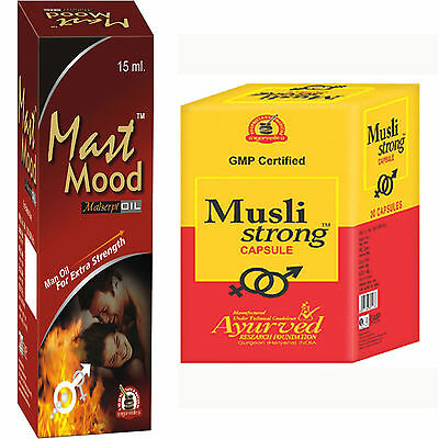 Herbal Remedies To Boost Sexual Stamina And Power 120 Musli Strong + 6 Mast Mood