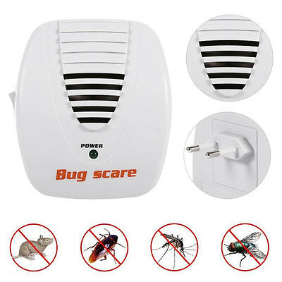 Electronic Ultrasonic Pest Control Repeller Anti Mosquito Mouse Insect Bug Scare
