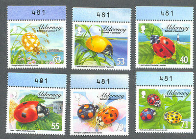 Alderney -Ladybirds set mnh - insects