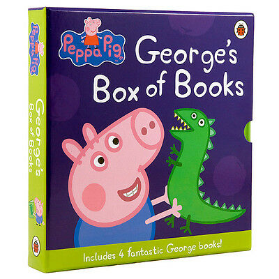 NEW Peppa Pig  George's box of books New Hardcover (4 Books)