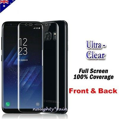 Front & Back Full Coverage Screen Protector For Samsung Galaxy S8 | S8+ Plus