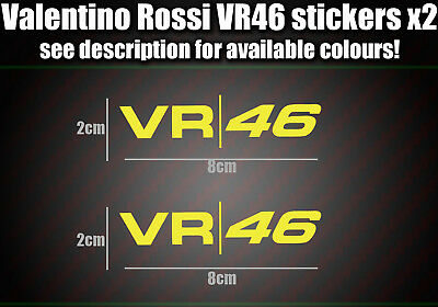 Valentino Rossi VR 46 Label Sticker Decal ALL COLOURS AVAILABLE Moto GP Racing B