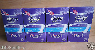 Always Actipearls Dailies Normal Pantyliners 128 Pack**new Free P&p**