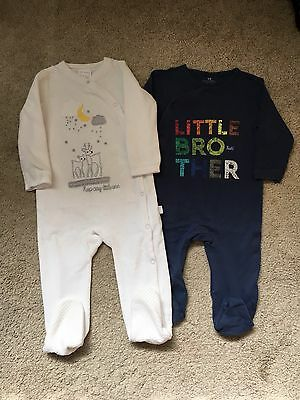 Baby Boys 9-12 Month Sleepsuits Little Brother, Next/f&f