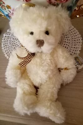 "Russ Berrie BUCKINGHAM Plush Toy Bear 10"" Soft! With Tags! 100th anniversary!!"
