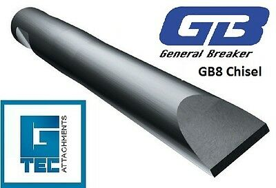 General Breaker GB8 Chisel Tool Moil Rock Breaker Hydraulic Hammer NEW GB8T