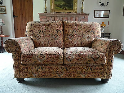 GORGEOUS 20thc ANTIQUE TRADITIONAL GOLDEN UPHOLSTERED SOFA SETTEE