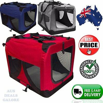Portable Large Soft Pet Travel Bag Crate Cage Foldable Dog Puppy Cat Rabbit