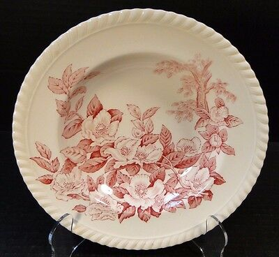 "Johnson Brothers Windsor Ware Apple Blossom Pink Soup Bowl 7 7/8"" EXCELLENT!"