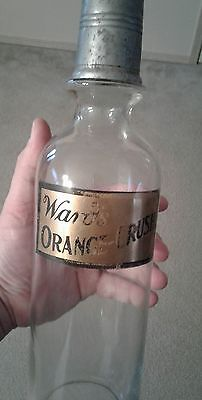 Rare Wards Orange Crush Syrup Soda Bottle not coca cola
