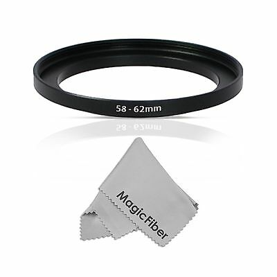 Goja 58-62MM Step-Up Adapter Ring (58MM Lens to 62MM Accessory) - NEW FREE SHIP