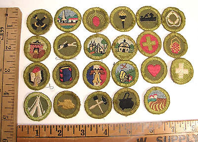 Lot Of 23 Vintage Bsa Merit Badges From The 1960's