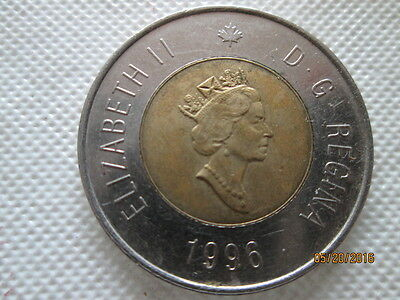 Canada - 1996 - $2 German Planchet 2 Dollars Toonie - used condition