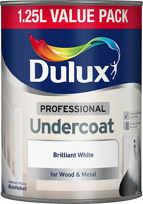 Dulux 1.25L Professional Undercoat Brilliant White Paint For Wood And Metal