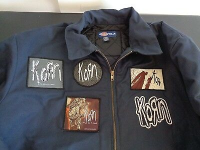 KORN Nu Metal 6 Patches on DICKIES Jacket 2XL Freak On a Leash FREE SHIPPING