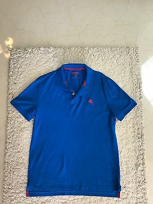 Express Mens Modern Fit With Small Lion Logo Pique Polo Shirt