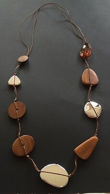 Wooden & Acrylic Strung Ethnic and Tribal Necklace