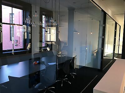 Glass Office Partitions, Panels, Doors Made to Measure - Toughened 12MM Thick