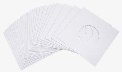 "100 White Paper 7"" 45rpm Record Sleeves Acid-Free Paper"