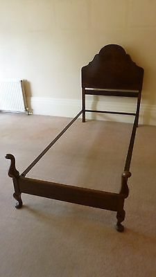 Vintage Mahogany ' Queen Anne ' Style Single Bed Frame - Shabby Chic Makeover ?