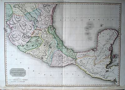 Antique Mexico Map Pinkerton 1811 Spanish Dominions in North America Middle Part