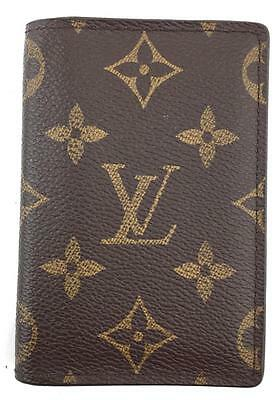 Louis Vuitton #11623 Monogram bifold Business ID credit Card Holder case