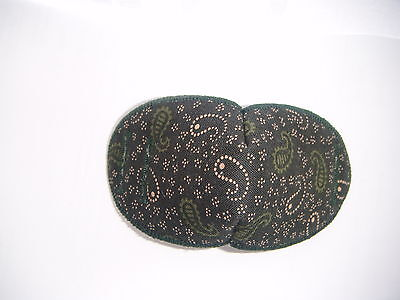 Medical Eye Patch, For Glasses, DARK GREEN/BROWN, REGULAR Soft and Washable