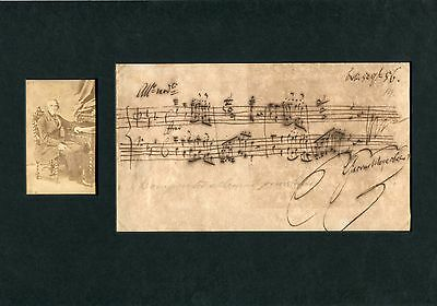 Giacomo Meyerbeer COMPOSER autographed musical quotation signed