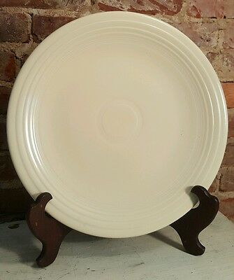 Vintage Color FIESTA Ivory White 14 1/8 Chop Plate Charger Round Serving Platter