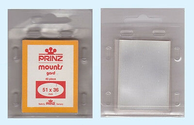 2 Packs Of Prinz Mounts - 51 X 36Mm - Clear  Free Shipping    #pzmt-51X36C