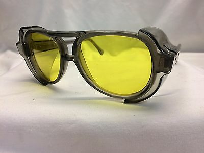 AMERICAN OPTICAL AO Vintage New Old Stock Safety Glasses Pilot Slate Yellow