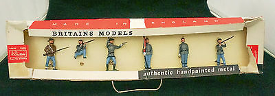 1960 Britain Lead Toy Soldiers Set in Original Box US Civil War Confederate Army