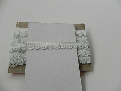 Card of New Lace - White with Blue Edge