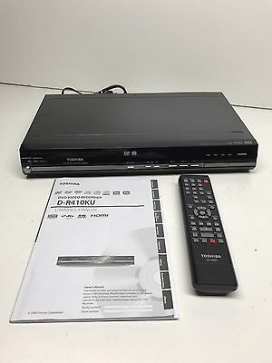 Toshiba D-R410 KU DVD Player Recorder Black W/ Remote
