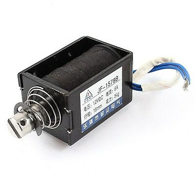 Uxcell Stroke 5 kg Force Push Pull Type Solenoid Electromagnet DC 12V 8A 15 mm