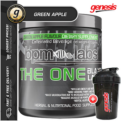 BPM Labs The One 2.0 Black Label *30 SRV GREEN APPLE* Pre Workout + FREE Gift!