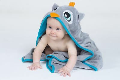 Extra Large Velour Hooded Towel Grey Owl (101X76 cm) - BEST SELLER!!