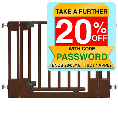 The First Years 75-104cm Home Decor Wood Safety Gate Pet/Baby/Toddler Security