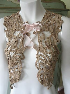 Antique Victorian Ladies/Womens Lace Vest Bolero Shrug or Corset Cover Blouse?