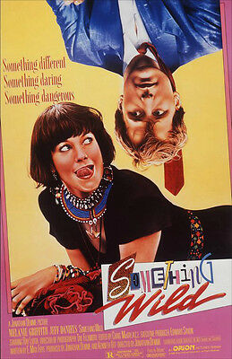 """Something Wild Original 1986 Rolled Movie Poster 40"""" X 27"""" Mint Condition"""