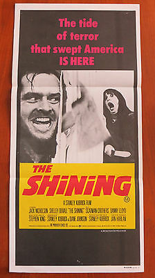 THE SHINING (1980) Original Australian Daybill Movie Poster Stanley Kubrick