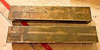 """VINTAGE Anton Parallels 3/4"""" x 1 1/8"""" x 6"""" Machinist Tool Lot, FREE SHIPPING"""
