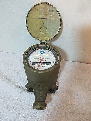 Rockwell SRII 2 5/8 Vintage Brass Water Meter