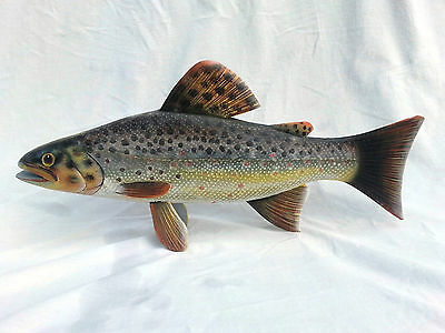 Hand Carved and Painted Brown Trout