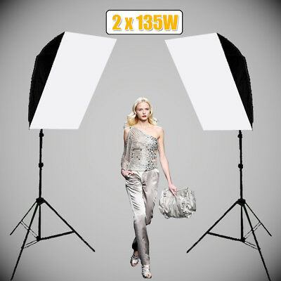 1350W Photography Studio Continuous Lighting Softbox Soft Box Light Stand Kit